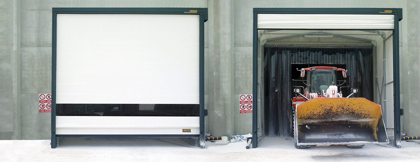 High-speed-fold-up-doors